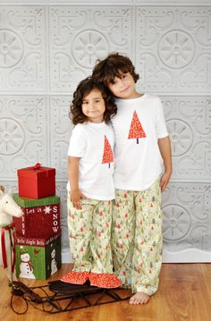 Childrens Christmas Pajamas  COTTON or FLANNEL by StitchToStitch, $36.00