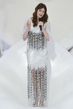 Who: Florence Welch    What: Chanel gown at the Chanel spring 2012 runway show    Why: Performing in an oversized clam shell calls for an equally enchanting gown.
