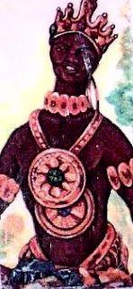 Catholic: Santa Barbara  Sanse: Chango Macho   Santeria: Chango  Taino Cemi: Guataubá   Paleria: Nsambi Munalembe: Siete Rayos   Vodou: Shango  Orixa: Xango