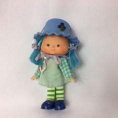 Vintage Strawberry Shortcake Friend Blueberry Muffin Doll 5 Inches #StrawberryShortcake #Dolls