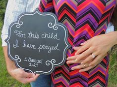 We prayed...He answered; a good baby announcement with pic & information inside card????