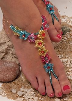 Tutorial - Anklet with Seed Beads and Glass Beads - Fire Mountain Gems and Beads