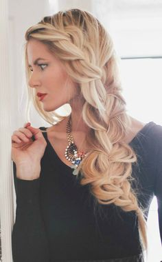 Loose side braid  http://barefootblonde.com/2014/01/black-and-brown.html - beautyandhairhaven.com