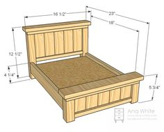 Doll Farmhouse Bed - Papa is making this one for her birthday!