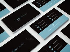 Clean Minimal Business Card - 04 by MustaART on @creativemarket