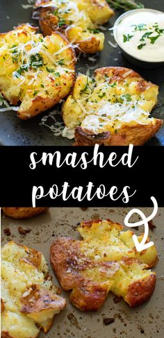 Smashed Potatoes - easy side dish