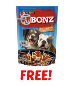 Purina T-Bonz dog treats are on sale at Kmart and, Kmart is doubling coupons this week! Use a manufacturer coupon to get a bag for as low as free!