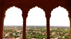 Appreciating symmetry at Neemrana Fort Palace