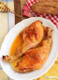 Cochinillo asado con salsa picante de mandarinas. Receta original para sorprender en Navidad, con fotos del paso a paso y la presentación. Receta...