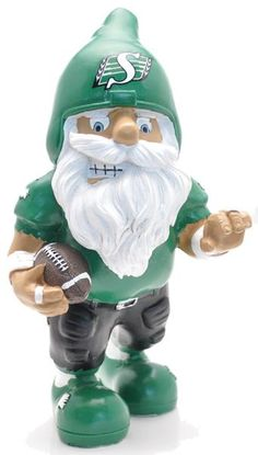 My mom has a rider nome, not as cute as this one though! Bring Em Out, Go Rider, Saskatchewan Roughriders, Grey Cup, Rough Riders, Faeries, Funny Photos, Gnomes