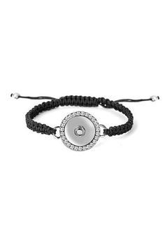 Ginger Snaps are a fun accessory that allow you to create a style that is unique as you are in a snap! You can attach 1 Snap to this Bling Snap Black Woven Bracelet.   Woven Snap Bracelet by Ginger Snaps. Accessories - Jewelry - Bracelets Kentucky