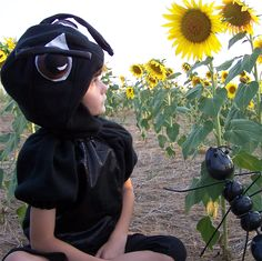 Custom ant costume by Ellen Michniacki on Etsy.  http://www.etsy.com/listing/107986892/alien-ant-childs-costume-size-4-6-in