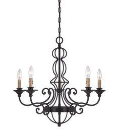 Designers Fountain 85585-NI Tangier 5 Light 26 inch Natural Iron Chandelier Ceiling Light #DesignersFountain