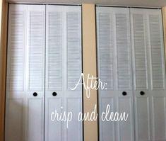 Spray paint closet bifold doors