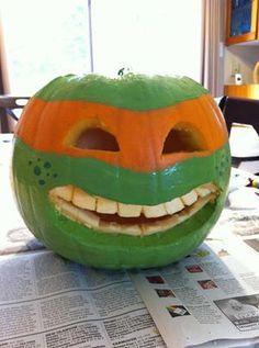 Michelangelo Pumpkin  COWABUNGA!!!!!