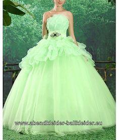 Neon Grünes Ballkleid Online Brautkleid Farbig