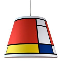 Piet Mondrian Inspired light. Playroom.
