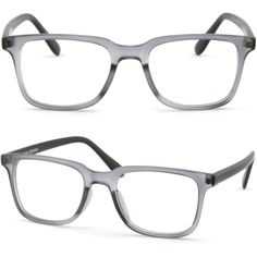 SmartBuy Collection Anthony Unisex Prescription Eyeglass Frames Anthony Black Semi Rimless Rectangular Designer Glasses Frame