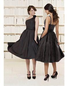 2011 Style A-line One Shoulder Hand-Made Flower Sleeveless Knee-length Taffeta Cocktail Dresses / Homecoming Dresses (SZ016043 )