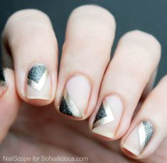 Floating negative space manicure tutorial.