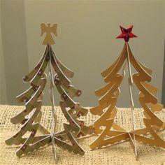 Sizzix BIGZ Die - Christmas Trees 3-D - 658754 - 18,00 EUR - Le Fustelle Sizzix BIGZ Die sono molto robuste e servono per tagliare grandi spessori, ad esempio:carta e cartoncino di diversi spessori, cartone ondulato, cartone pressato, pannolenci, feltro, tessuto, gommapiuma, gomma crepla, sughero, p...