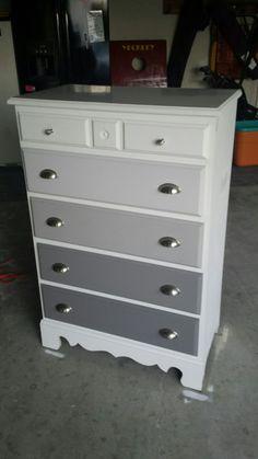 Grey ombre dresser, dresser redo