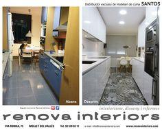 SANTOS kitchen. Antes y Después. Proyecto realizado por RENOVA INTERIORS
