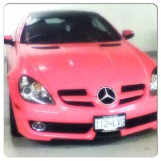 It's Barbie's pink Benz!