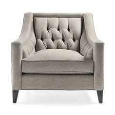 "Rylan 35"" Upholstered Tufted Chair in Taranto Dove"