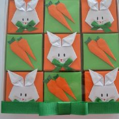 My friend in Brazil makes all kinds of beautiful origami boxes. She created these for Easter.