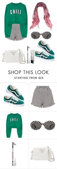 """Untitled #617"" by tamar4eveselinoska on Polyvore featuring Vans, Yves Saint Laurent, Benefit, Prada and Bobbi Brown Cosmetics"