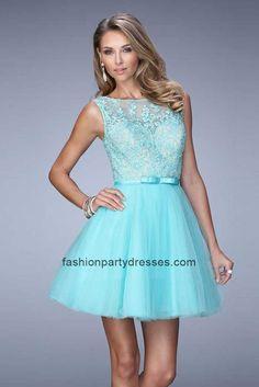 Light Mint LF21835 Appliques Lace Short Cocktail Dress
