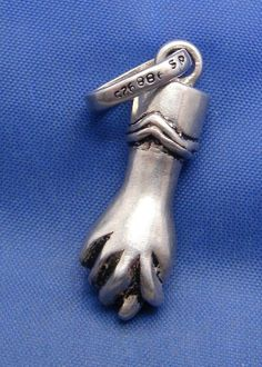 Vintage Sterling Silver Lucky Figa Fist Charm Pendant marked 925 Hand Jewelry, Gems Jewelry, Stone Jewelry, Jewellery, Lucky Symbols, Old Symbols, Spanish Dancer, Healing Hands, Vintage Antiques