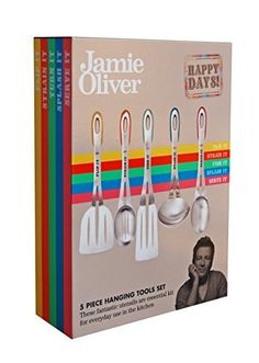 Jamie Oliver Hanging Tool Set >>> Read more at the image link. (This is an affiliate link) Jamie Oliver Kitchen, Tool Set, Kitchen Tools, Pot Racks, Tableware, Image Link, Check, Diy Kitchen Appliances, Kitchen Gadgets