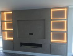 Fireplace Feature Wall, Feature Wall Living Room, Living Room Decor Fireplace, Fireplace Tv Wall, Living Room Wall Units, Ikea Living Room, Living Room Lounge, Living Rooms, Modern Home Interior Design
