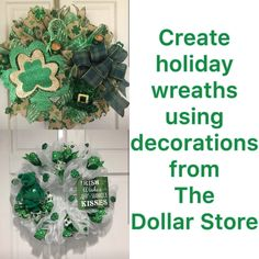 Holiday Wreaths, Dollar Stores, Entrepreneurship, Student, Create, How To Make, Decor, Decoration, Decorating