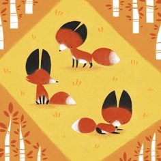 Little Foxes by sketchinthoughts.deviantart.com on @deviantART