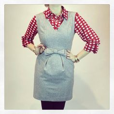 #LayersWeLove Cloud 9 Cocktail Dress $62, layered with the Apple Pie Gingham Top $32 #newarrivals www.popintotheshop.com