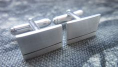 Sterling Silver Cufflinks. 15mm x 10mm. Groom, Best Man, Weddings, Anniversary, Birthday Handmade gift. by lisaakatz on Etsy