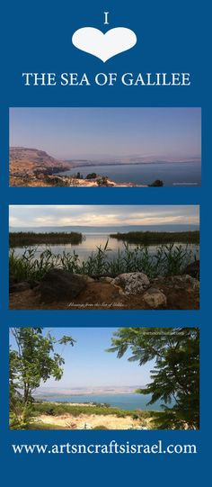 I love the Sea of Galilee. I love Israel. #Israel #Travel - Your connection to the Holy Land! www.artsncraftsisrael.com