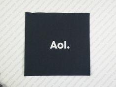 Servilletas Impresas Personalizadas Aol. se ha realizado en tamaño 33x33 cm. (16,5x16,5 cm. cerrada) Doble Punto, color negro, impresión en tinta Blanca. Más servilletas impresas personalizadas como esta en http://servilletaspersonalizadas.es/trabajos-realizados/