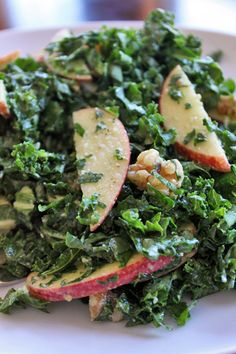 Apple Kale Salad with Maple Walnut Dressing - this is good. I added a bit of sprinkled cheese on top.
