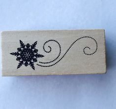 New- For Rubber Stamping and Handmade Cards Wood Mounted Rubber Stamp-- Snow by YourScrapbookingShop on Etsy