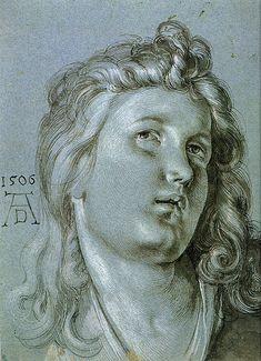 Albrecht Durer. Head of an Angel.