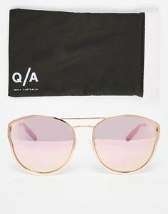 Bild 2 von Quay – Cherry Bomb – Runde, verspiegelte Metall-Sonnenbrille