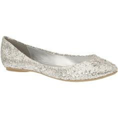 Call it Spring(TM) Arleigh Glitter Flats ($25) ❤ liked on Polyvore