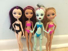 How to make NO SEW DOLL BATHING SUITS! (3 tops, 1 bottom, and a swim skirt)