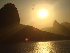 Pôr do sol na Cidade Maravilhosa  Lucas Prestes/VC no G1