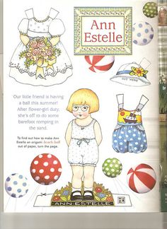 (⑅ ॣ•͈ᴗ•͈ ॣ)♡                                                             ✄Paper Doll Ann Estelle paper doll by Mary Engelbreit.