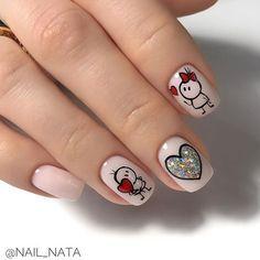 Heart Nail Art, Heart Nails, Acrylic Nail Shapes, Acrylic Nails, Love Nails, Pretty Nails, Valentine's Day Nail Designs, Valentine Nail Art, Semi Permanente